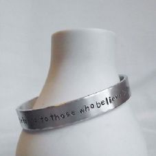 "Lovely Handmade Personalised ""....beauty of dreams""  Statement Cuff Bangle"